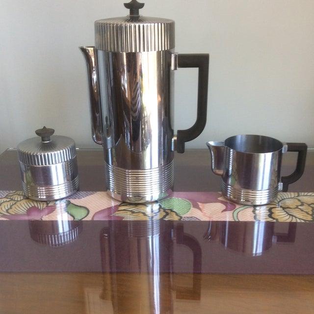 Chase continental coffee making service No.17054.Van Nessen design Chrome and Bakelite. Coffee service still has original...
