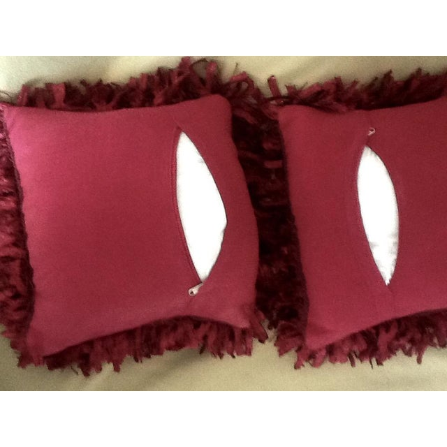 """Burgundy """"Confetti"""" Pillows - A Pair - Image 4 of 5"""