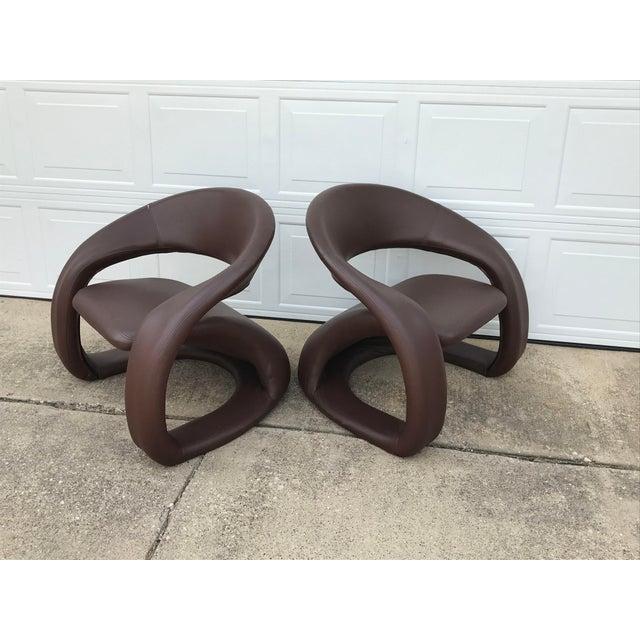 Jaymar 1990s Vintage Jaymar Memphis Sculptural Cantilever Lounge Chairs - a Pair For Sale - Image 4 of 9