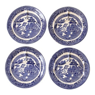 Allertons Blue Willow Plates - Set of 4 For Sale