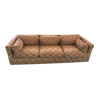 Milo Baughman Herringbone Sofa For Sale