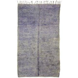 Vintage Lavender-Gray Berber Moroccan Rug - 6′10″ × 11′7″ For Sale