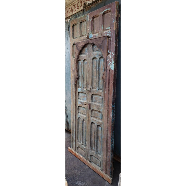 Islamic 1940s Vintage Old Mok Moroccan Door For Sale - Image 3 of 8