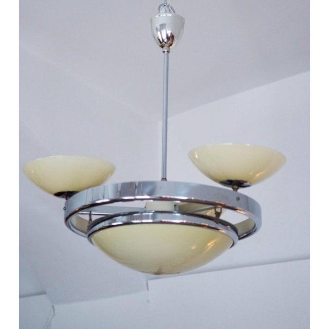 Art Deco Streamline Chandelier For Sale - Image 4 of 10