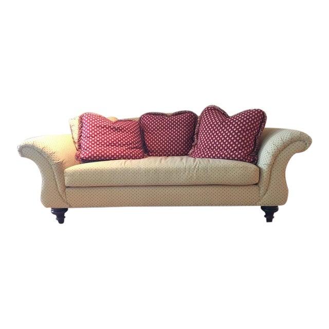Calico Corners Custom Single Cushion Sofa & Pillows - Image 1 of 6