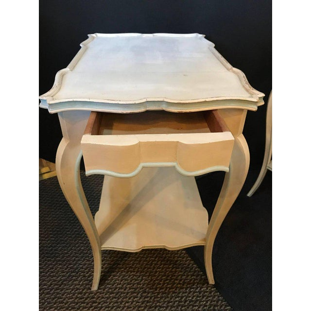 Distressed Paint Decorated Maison Jansen Side Tables or Night Tables - a Pair For Sale In New York - Image 6 of 12