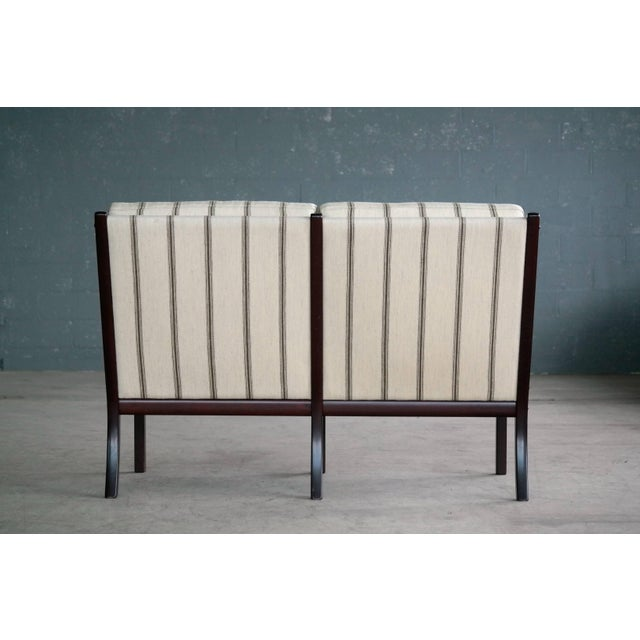 Danish Midcentury Mahogany Settee or Loveseat by Ole Wanscher for Poul Jeppesen For Sale - Image 9 of 10