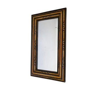 Moroccan Rectangular Bone & Wood Mirror For Sale