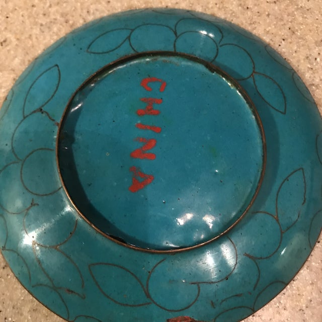 Chinese Enamel Cloisonné Tray For Sale In Charlotte - Image 6 of 10