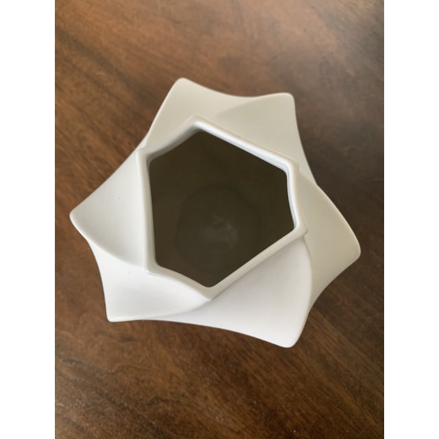 Abstract German Mid-Century Bisque Vase For Sale - Image 3 of 6