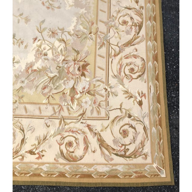 Absolutely Stunning French Aubusson Needlepoint Rug