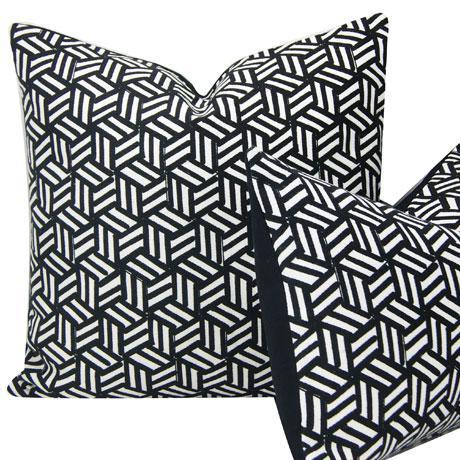 2010s Miles Redd Tumbling Blocks Geometric Schumacher Pillow Cover For Sale - Image 5 of 8