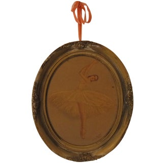 Ballerina Dancing in an Oval Frame Artwork