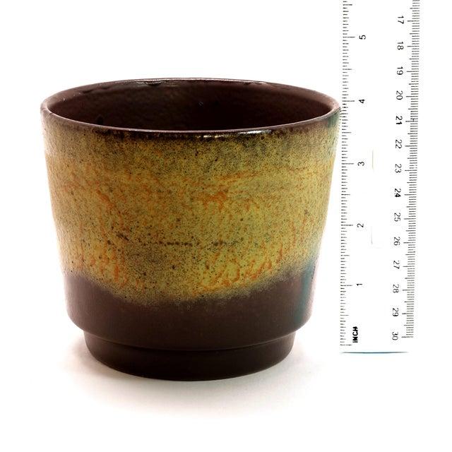 1970s Vintage West German Fat Lava Glazed Ceramic Pottery Planter For Sale - Image 4 of 6