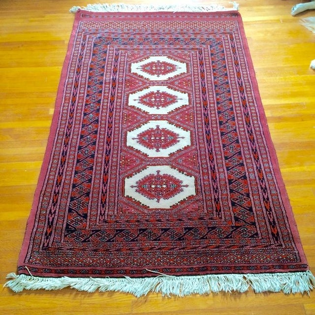 Bokhara Persian Wool Rug - 3′2″ × 5′8″ - Image 2 of 5