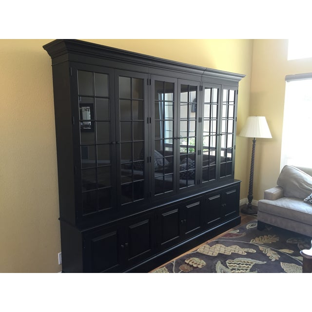 Black Ethan Allen Villa Triple Bookcase - Image 8 of 8