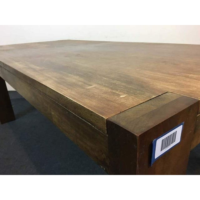 West Elm Contemporary Rustic Oak Dining Table - Image 6 of 7