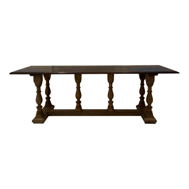 Oak Carved Library Table For Sale