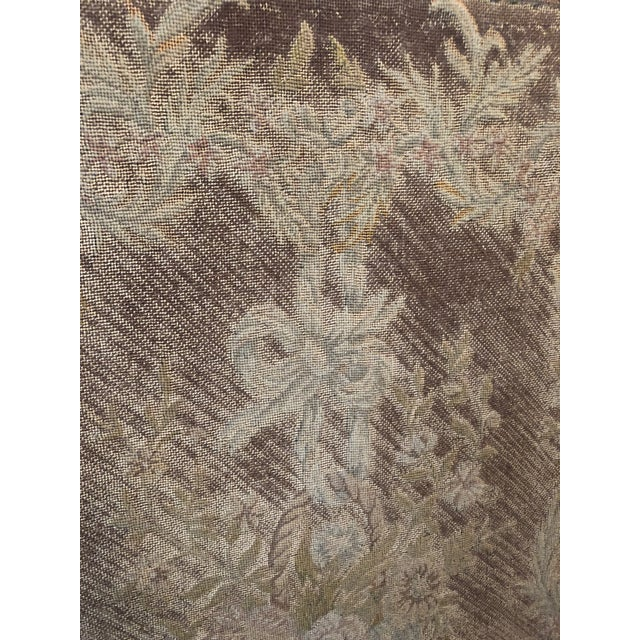 Empire Early 19th Century French Empire Needlepoint Fireplace Screen For Sale - Image 3 of 12