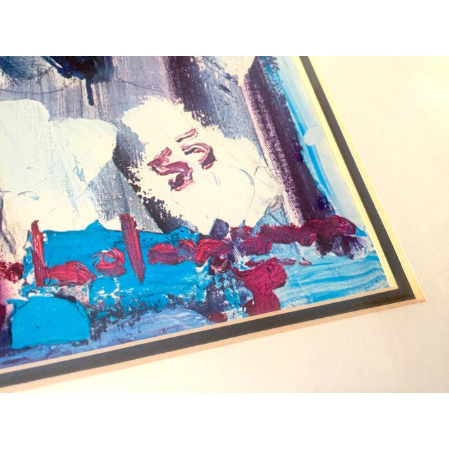 """Hans Hofmann Rare Vintage 1968 Mid Century Modern Abstract Expressionist Framed Collector's Lithograph Print """" Exuberance """" 1955 For Sale - Image 11 of 13"""