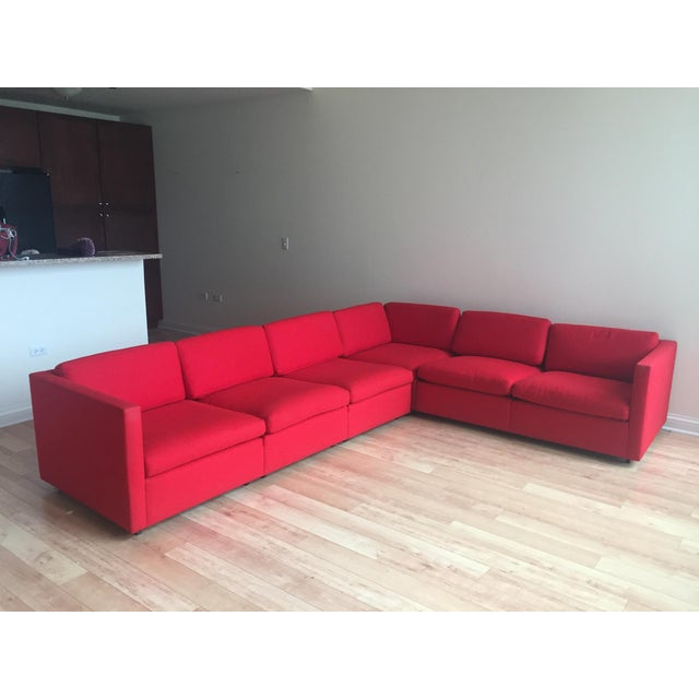Contemporary Design Within Reach Reid Sectional Sofa For Sale - Image 3 of 3