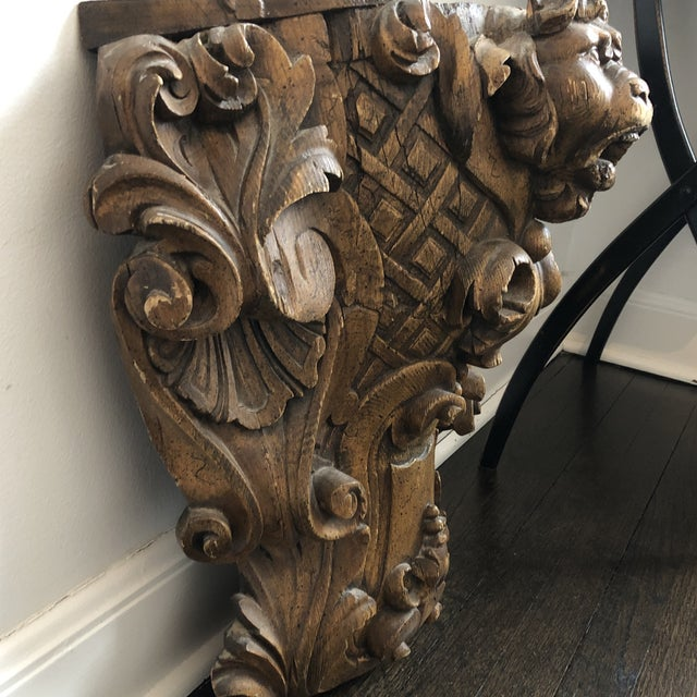 19th Century Carved Architectural Wall Shelf For Sale In Chicago - Image 6 of 10