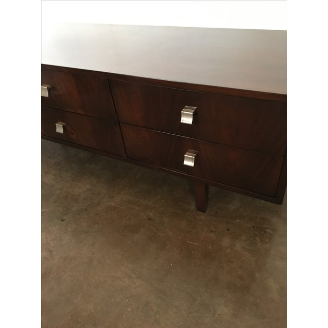 Mid Century Modern Argentine Manner of Jean Michel Frank by Comte Walnut Low Sideboard / Credenza - Image 6 of 10