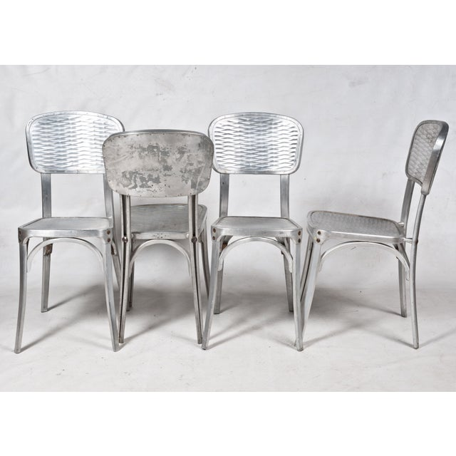 Gaston Viort Aluminum Chairs - Set of 4 For Sale - Image 5 of 5