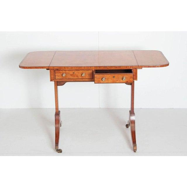Satinwood English Regency Satinwood Sofa Table For Sale - Image 7 of 13