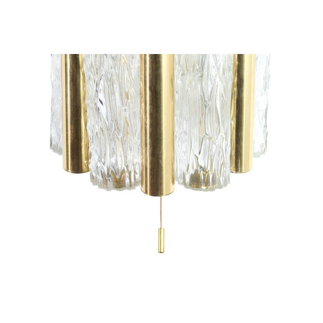 Doria Leuchten Germany 1950s Germany Murano Glass and Brass Sconces by Doria Leuchten - a Pair For Sale - Image 4 of 8
