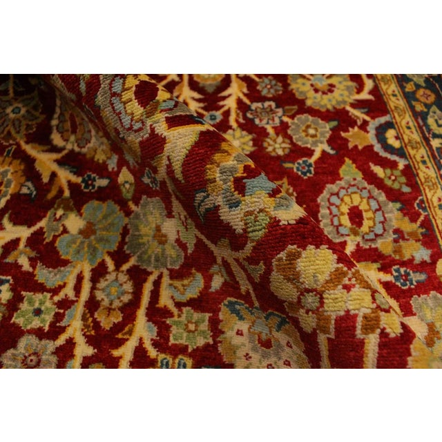 Istanbul Sidney Red/Teal Turkish Hand-Knotted Rug -3'2 X 5'1 For Sale In New York - Image 6 of 8