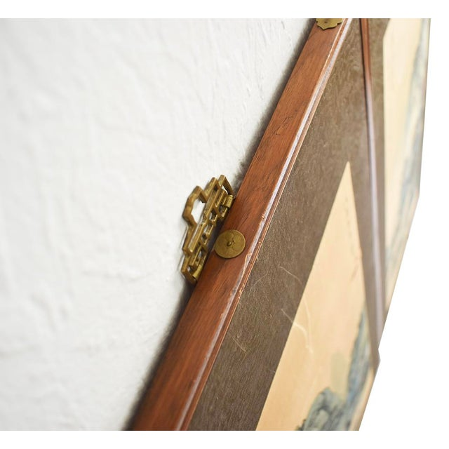 Original Asian Wood Panel Paintings - a Pair - Image 3 of 7