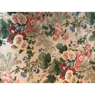 """Lee Jofa """"Althea"""" Linen Floral Fabric - 7 Yards For Sale"""
