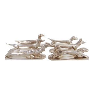 Early 20th Century Art Deco Silver Knife Rests of Animals - Set of 6 For Sale
