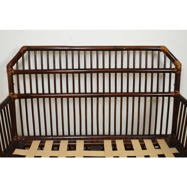 1980s Vintage Rattan Settee in the Manner of Willow and Reed For Sale - Image 11 of 13