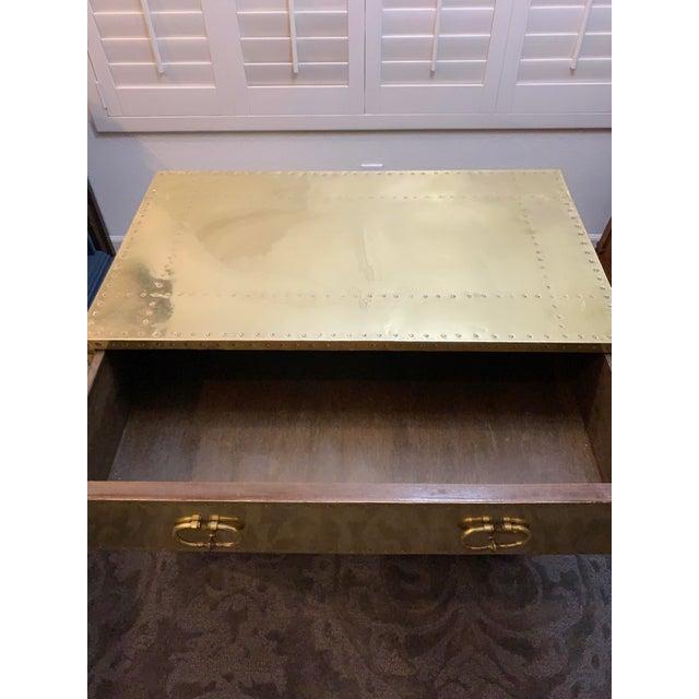 Metal 1970's Vintage Brass Dresser by Sarreid Ltd. For Sale - Image 7 of 10
