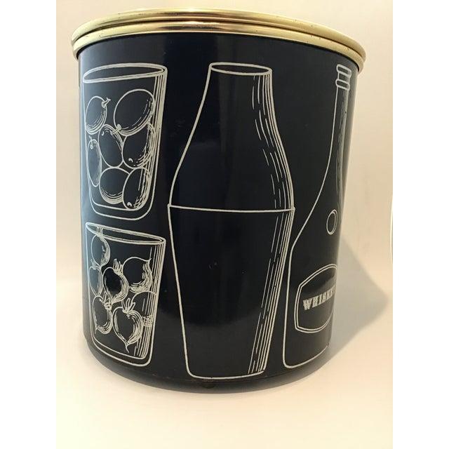 Piero Fornasetti Fornasetti Vintage Mid-Century Ice Bucket For Sale - Image 4 of 11