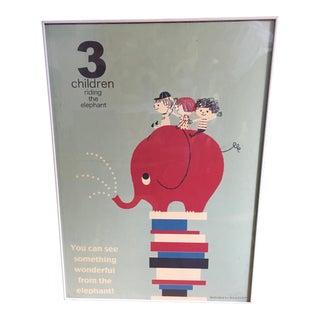 Vintage Shinzi Katoh Children's Elephant Poster