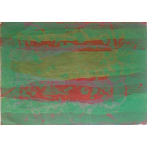 Green Mid Century Abstract Silkscreen Bay Area Female Artist For Sale - Image 8 of 8