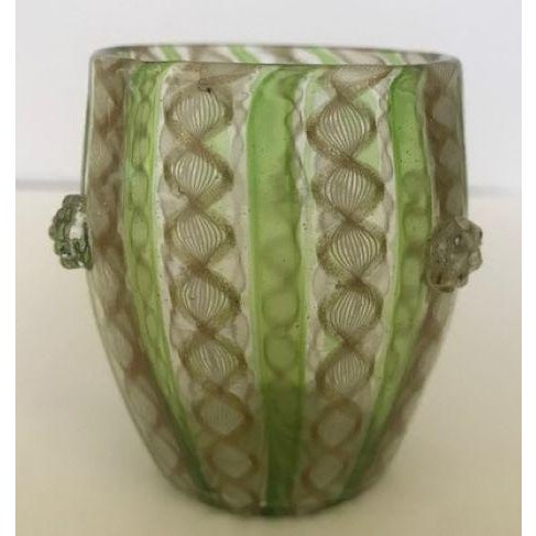 Late 19th Century 19th Century Victorian Venetian Art Glass Small Vase For Sale - Image 5 of 13