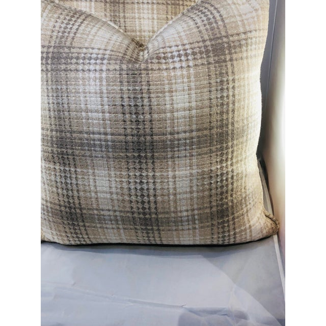 """20"""" Square Plaid Robert Allen Pillows - a Pair For Sale In Chicago - Image 6 of 9"""