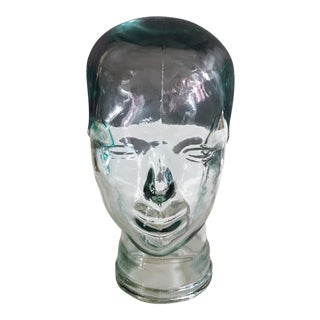 Vintage Glass Mannequin Head For Sale