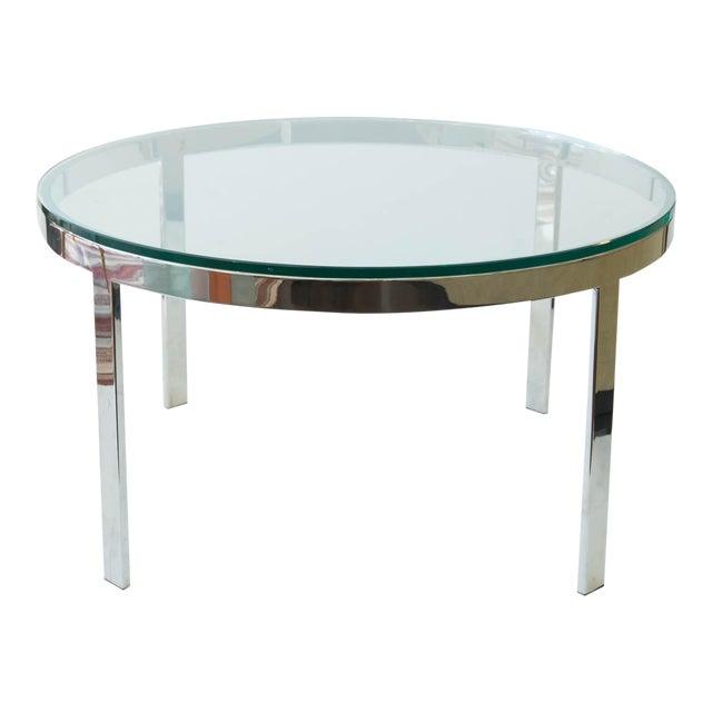 Milo Baughman Chrome Coffee Table: Milo Baughman Chrome And Glass Coffee Table