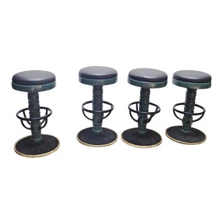 Mid-Century Modern Swivel Bar Stools- Set of 4 For Sale