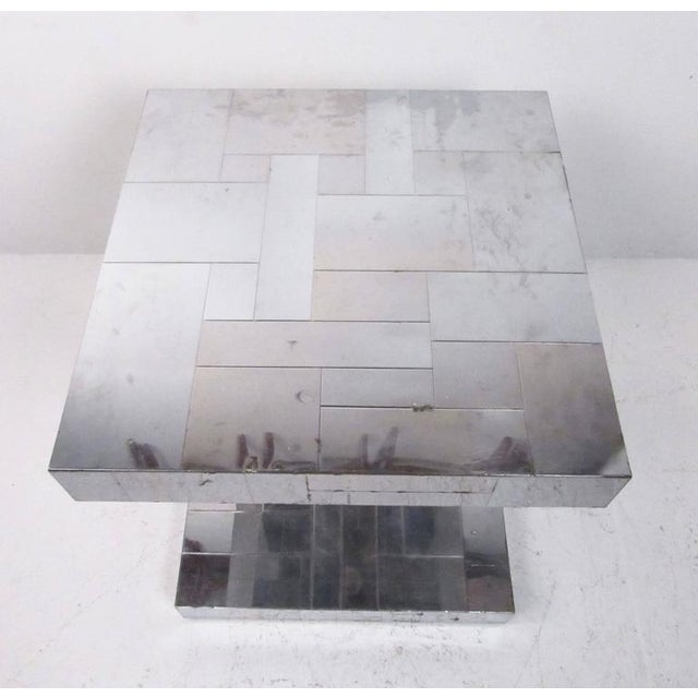 Paul Evans Patchwork Console Table & Wall Mirror - A Pair For Sale - Image 9 of 11