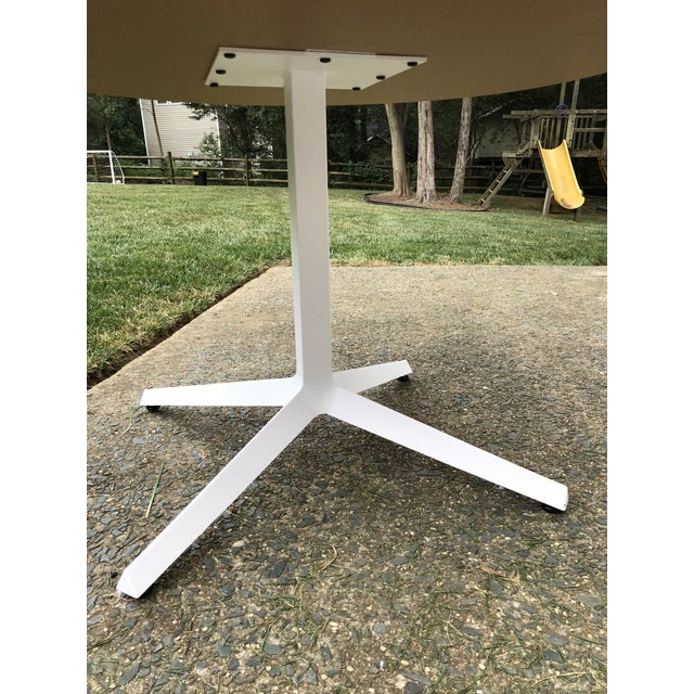 Knoll Knoll Mid-Century Modern X Base Dining Table For Sale - Image 4 of 7