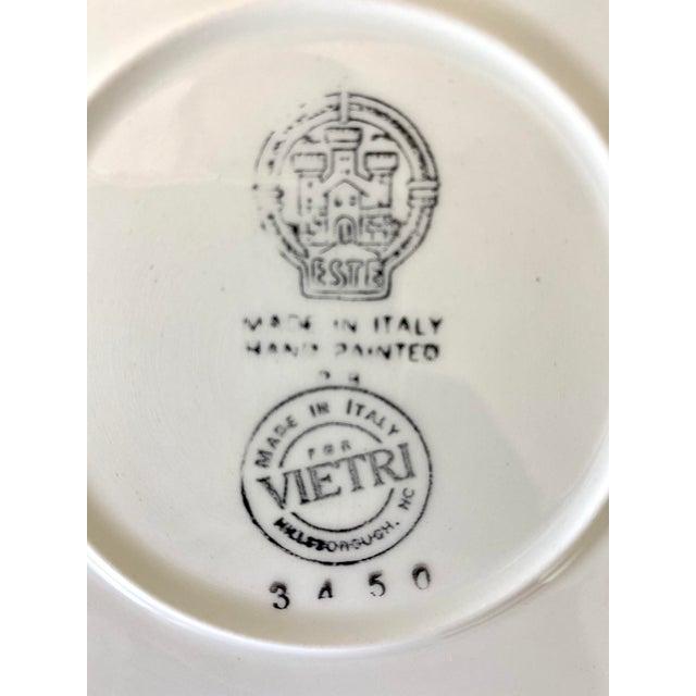 Ceramic Este Ceramiche Vietri Green Laurel Rim Dinner Plates - Set of 7 For Sale - Image 7 of 10