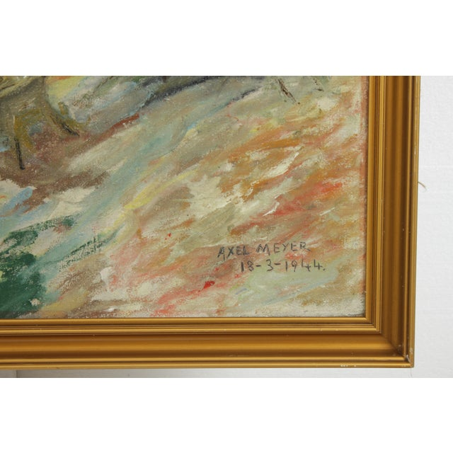 Impressionist Forest Landscape by Axel Meyer For Sale - Image 4 of 5