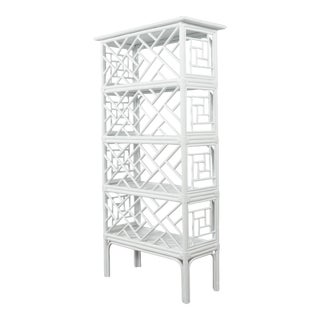 Chippendale Etagere - White For Sale