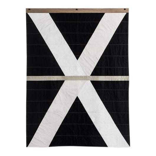 Louise Grey Signature Throw Quilt With Hanger Included For Sale
